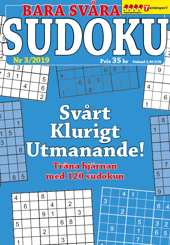 Tankesport Sudoku Gigant 4, 5, 6, Svårighetsgrad: 4–6