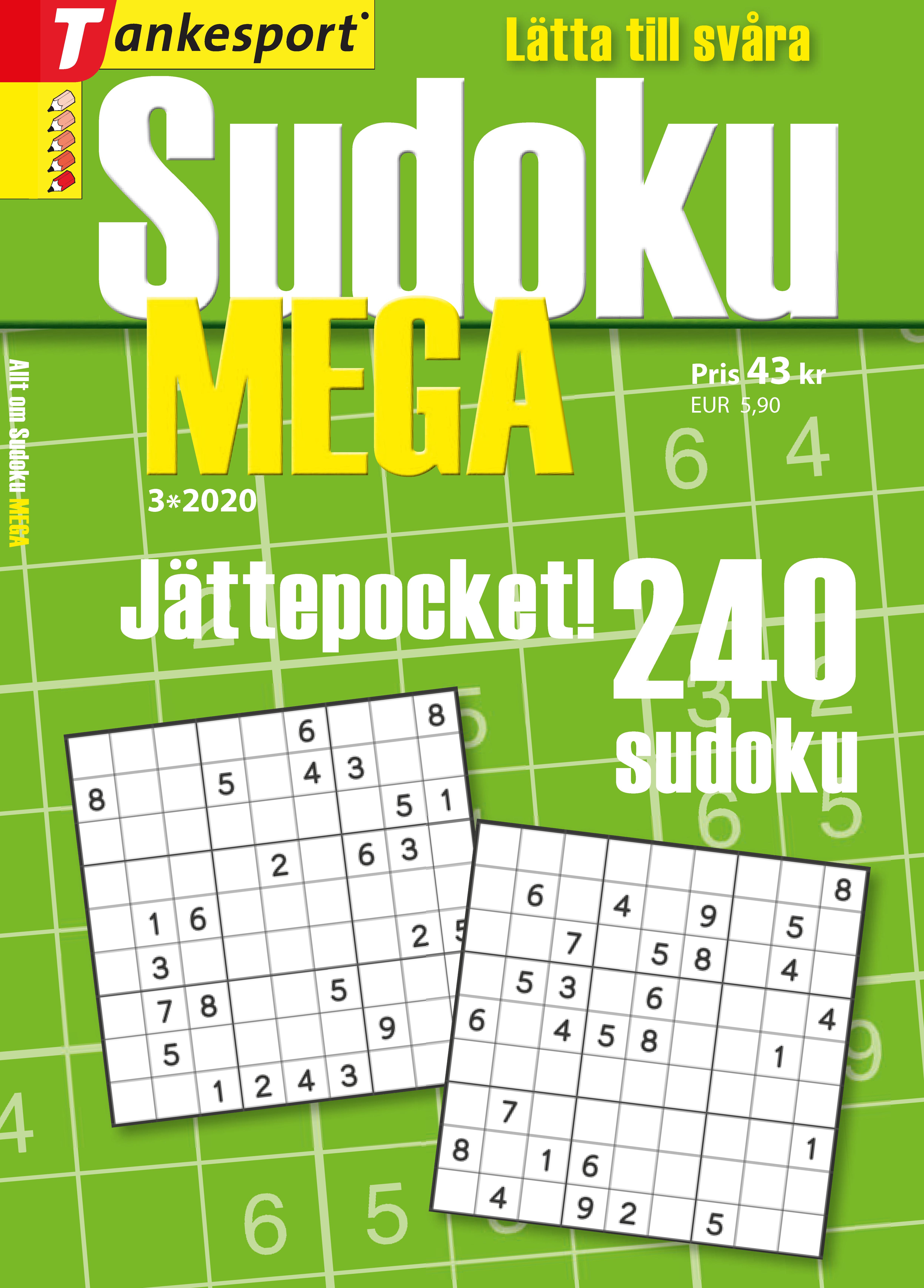 Tankesport Sudoku Geni Svårighetsgrad: 5–6
